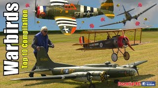 RC BEST TOP 10 WARBIRDS WW1 and WW2 (Action Compilation)