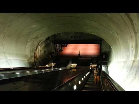 Beton Brut journey in Washington DC Dupont Circle metro escalator