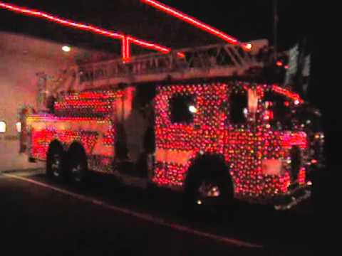 fire truck christmas light show youtube. Black Bedroom Furniture Sets. Home Design Ideas
