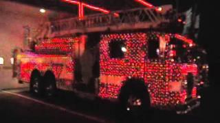 Fire Truck Christmas light show