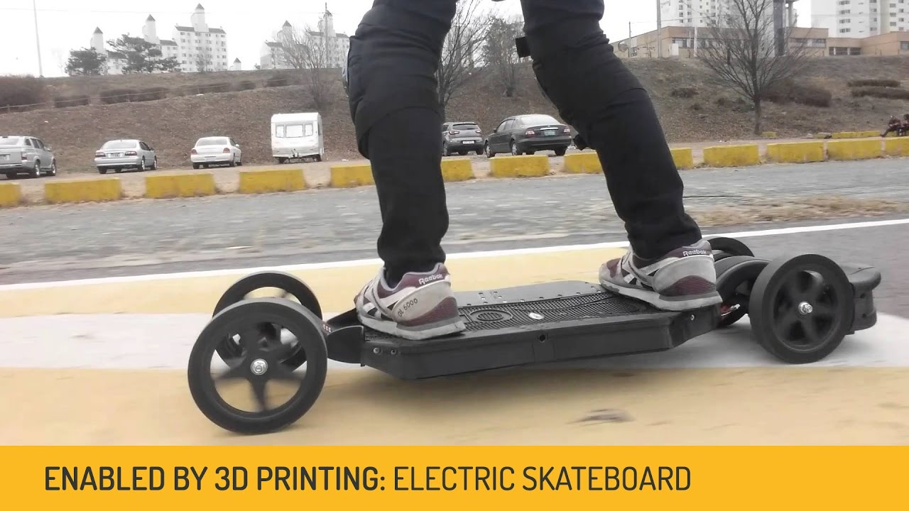 3D Printed Electric Skateboards from Faraday Motion