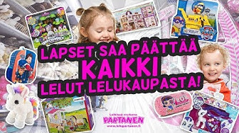 Lapset saa kaikki haluamansa lelut lelukaupasta | Kids get all the toys they want from toy store