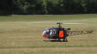 Ronnie.H No Pitch,No Fun Swiss Alouette II R/C Turbine Model Army Helicopter ALK Flight Show 2015