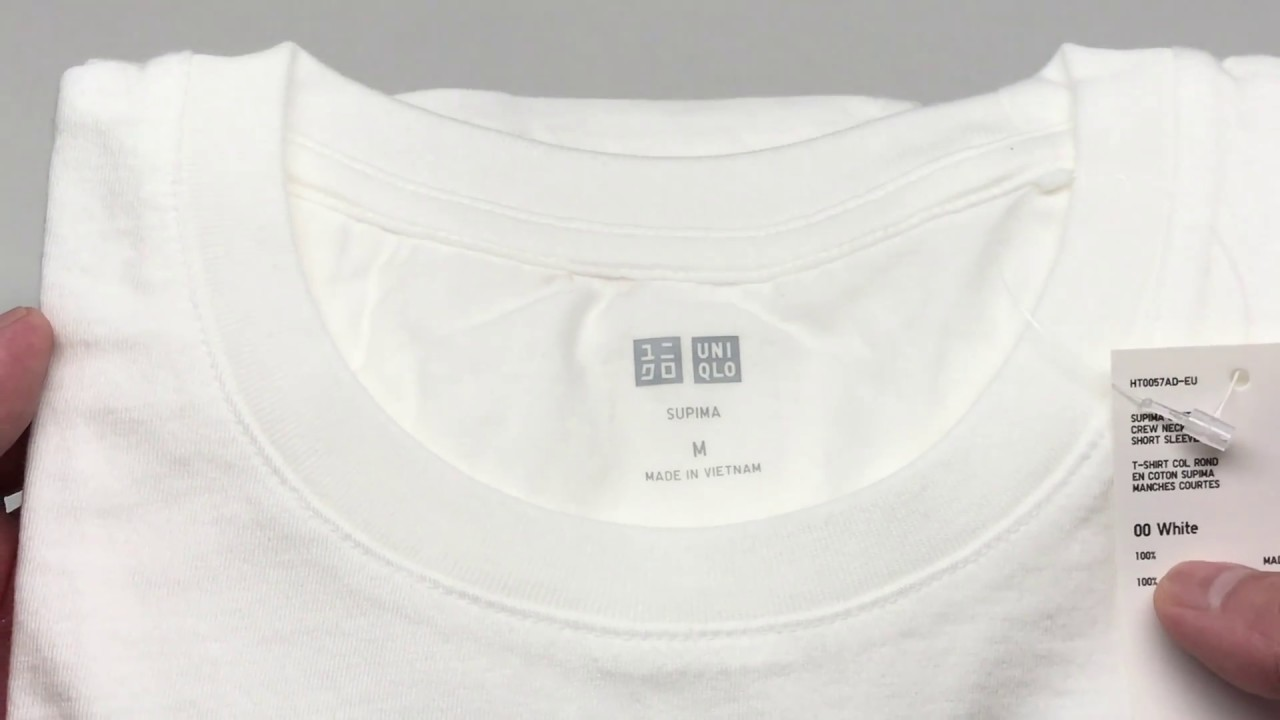 942cbb6f2ebe Uniqlo Men Supima Cotton Crew Neck Short Sleeve Tee White 4K ...