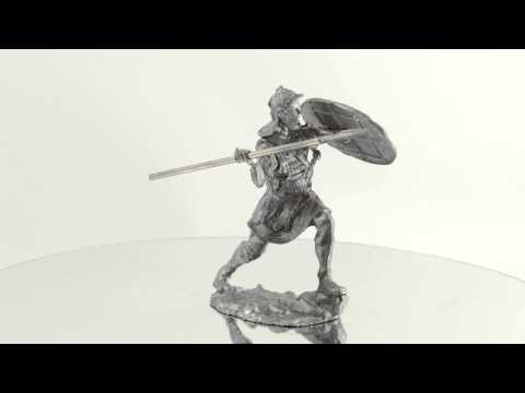 Legionnaire, 3rd century BC. Collection 54mm 1/32 miniature metal toy soldier statue, figurine
