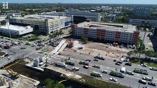 Drone video shows the damage after FIU bridge collapsed