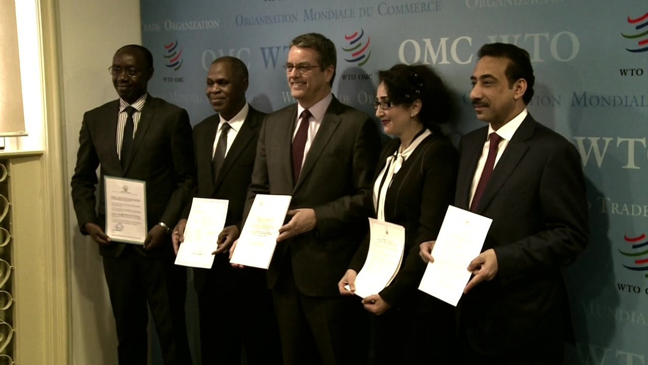 Wto Trade Facilitation Agreement Entry Into Force Youtube