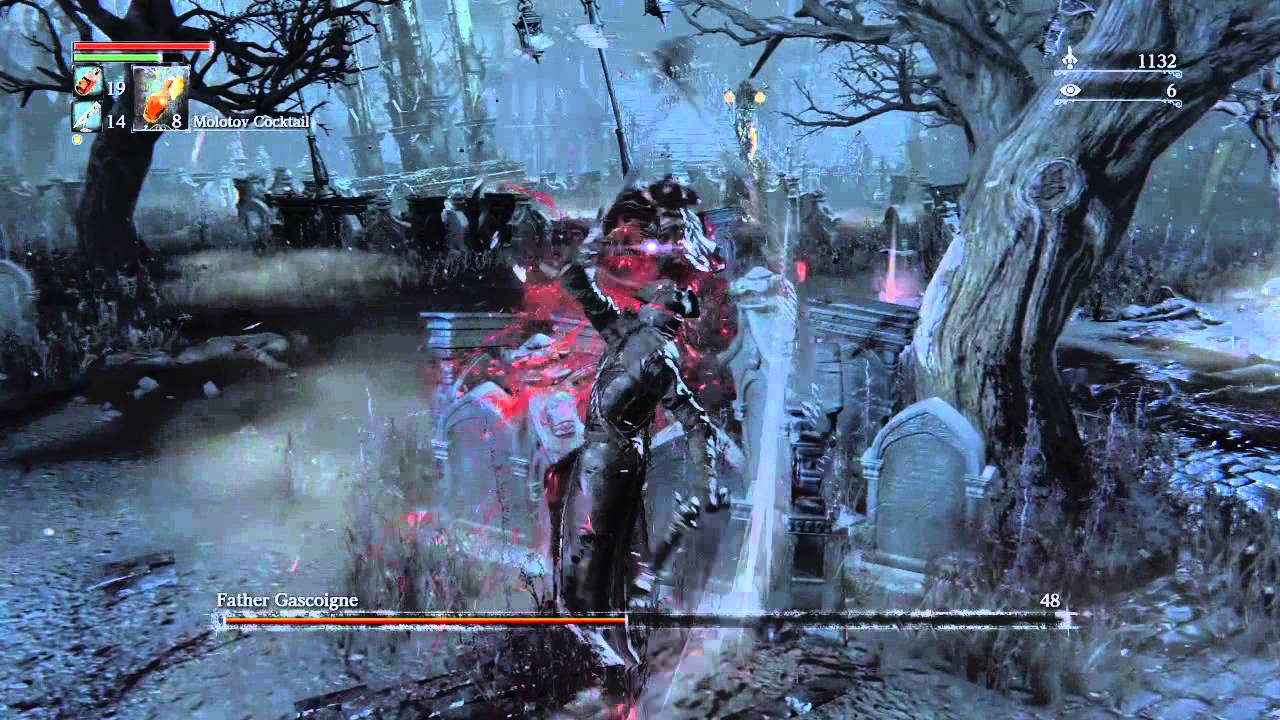 Bloodborne - Second Boss -Cheat (until wolf form) - Father ...