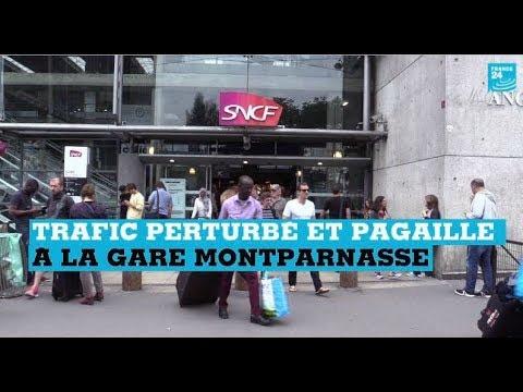 Trafic perturbé et pagaille à la gare Montparnasse