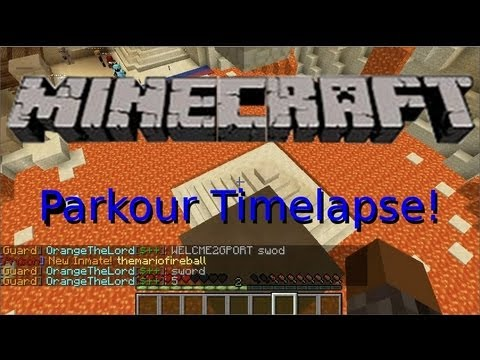 Minecraft: Prison Server (techge3ks) - Part 5 - Hardcore Parkour Timelapse