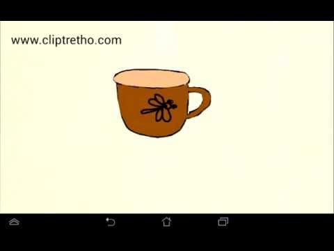 Vẽ cái ca-vẽ cái cốc_Dạy bé vẽ_How to draw a cup