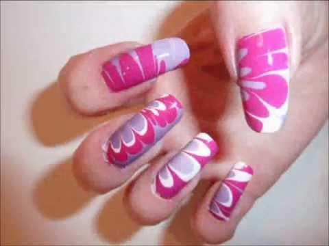 6 nail art  manicure designs on long real natural nails