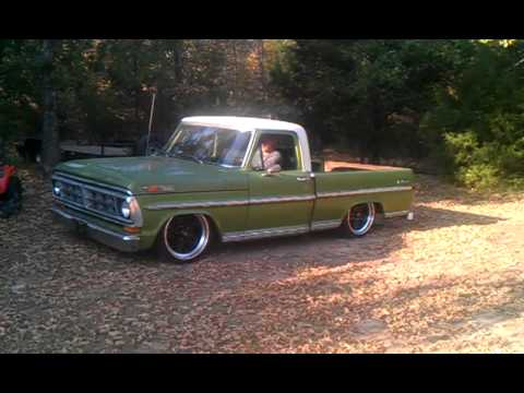 72 Ford F100 Airbag Demo Youtube