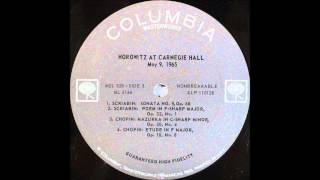 Horowitz At Carnegie Hall , An Historic Return, side 3