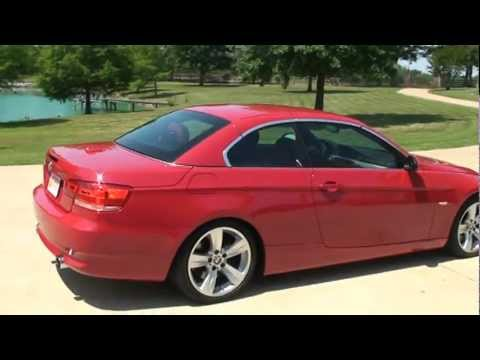 2007 BMW 335I HARDTOP CONVERTIBLE CRIMSON RED TURBO NAVIGATION FOR