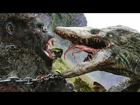 [HINDI] Kong Vs Skull Crawler - Fight Scene - Kong: Skull Island (2017)