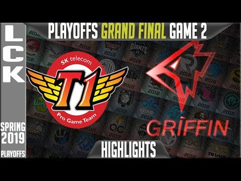 SKT Vs GRF Highlights Game 2 | LCK Playoffs Grand Final Spring 2019 | SK Telecom T1 Vs Griffin G2