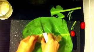 How To Make A Simple Raw Collard Wrap
