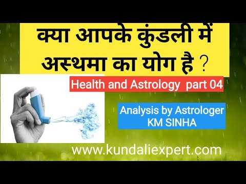 Health and astrology part 04: Asthama and Astrology