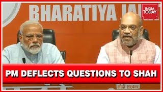 PM Modi Turns To Amit Shah When Asked Questions On Sadhvi Pragya