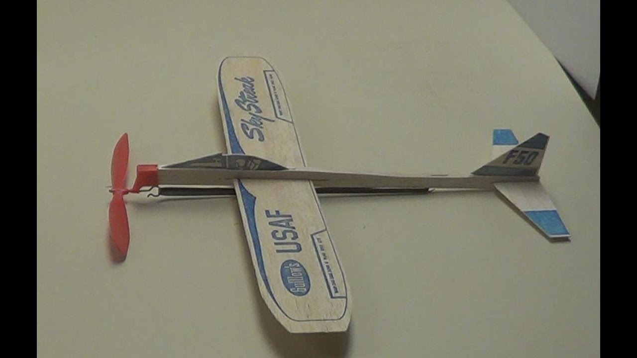 How To Build And Fly A Rubber Band Powered Plane 2 Guillows Sky Streak