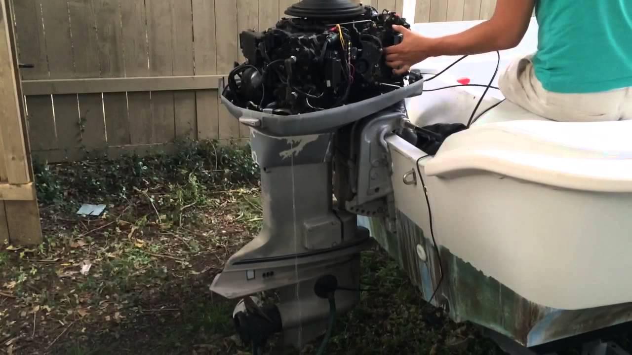 1987 evinrude 110hp outboard motor problems doovi for Johnson marine italia