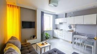 видео Красивый интерьер 1-комнатной квартиры