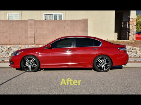 Honda Accord Sport >> Eibach Pro-Kit Springs on Honda Accord Sport. - YouTube
