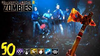 💀MOB OF THE DEAD ROUND 50 & SOLO EASTER EGG!💀 - BLACK OPS 2 ZOMBIES