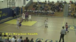 Acton Boxborough Varsity Boys Basketball @ Newton South 12/24/12