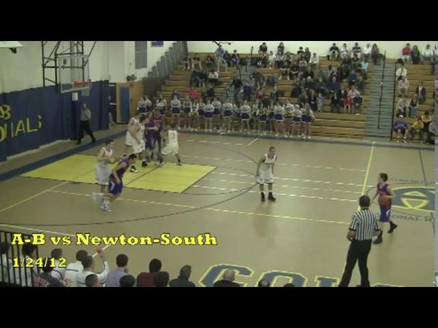 Acton Boxborough Varsity Boys Basketball @ Newton South 12/24/12