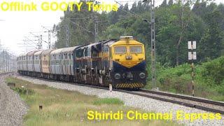 OFFLINK Gooty EMD Twins Shirdi Chennai | School Bus in Lead | Loco Failure affected | Egattur