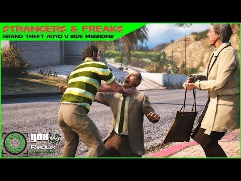 GTA 5 TREVOR Side Missions on Redux Mod/Stealing Celebrity Souvenirs/Strangers&Freaks Gameplay