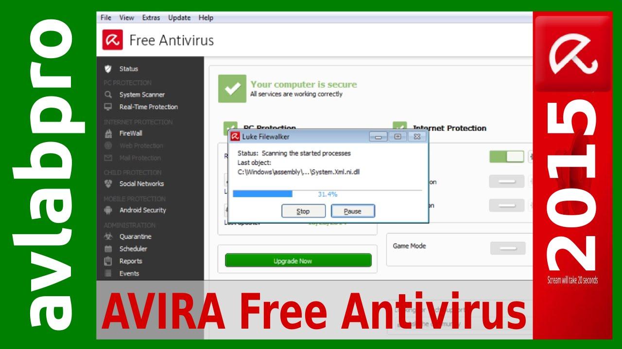 Avira Antivirus Pro 2015 Free Download With Update For Windows