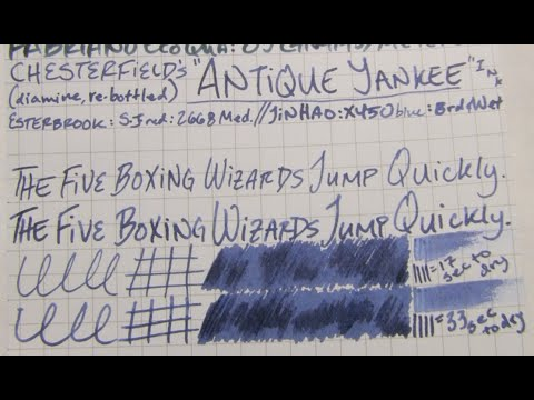 "Ink Review: Chesterfield's ""Antique Yankee"" Ink"