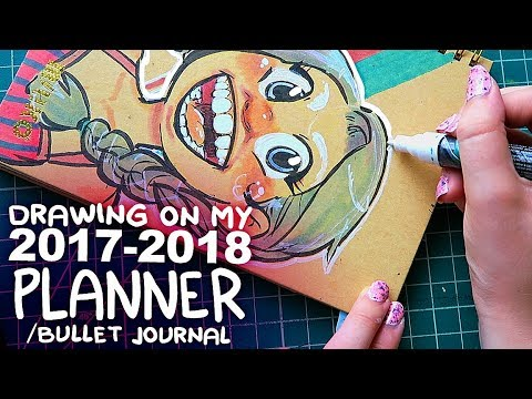 DRAWING on my PLANNER! | Markers on Toned Paper  | Back to School
