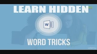 Learn Hidden Microsoft Word Tricks to Become 4x Faster At Work!