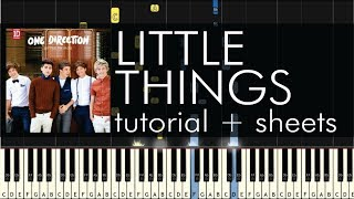 "How to Play ""Little Things"" by One Direction - Piano Tutorial"