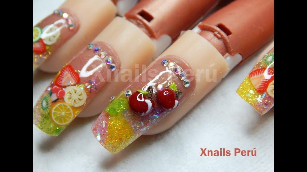Fruit nails encapsulado con Dual y 3d/ Xnails Perú - YouTube