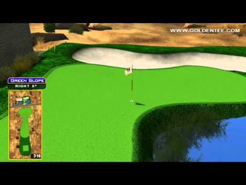 Golden Tee Great Shot on Dusty Bend!
