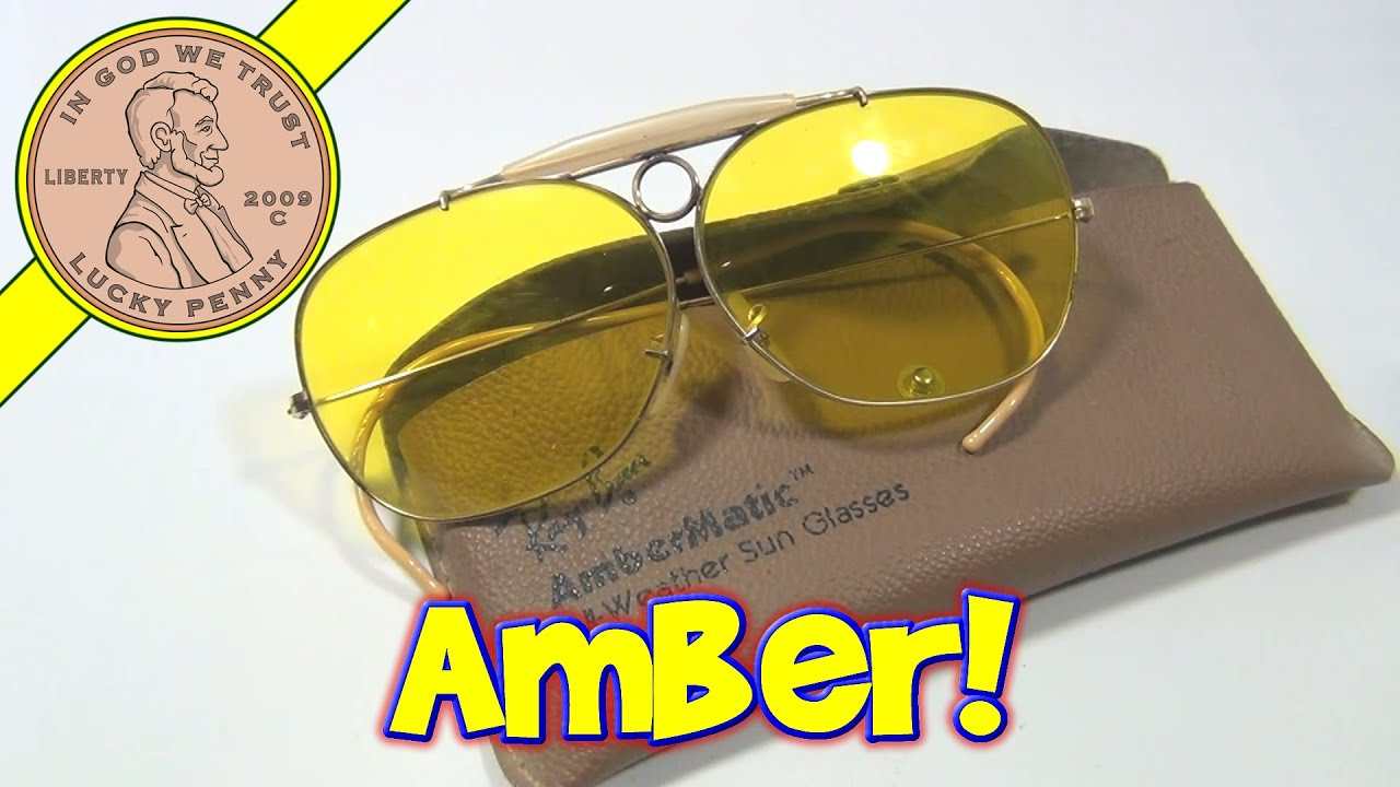 ray ban yellow lens aviator  ray ban vintage 70's shooting glasses bausch & lomb ambermatic yellow lenses