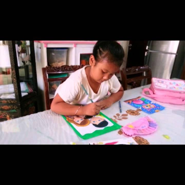 Navi Hamzah 7 Allanis Mewarnai Gambar Dengan Tema My Family Youtube