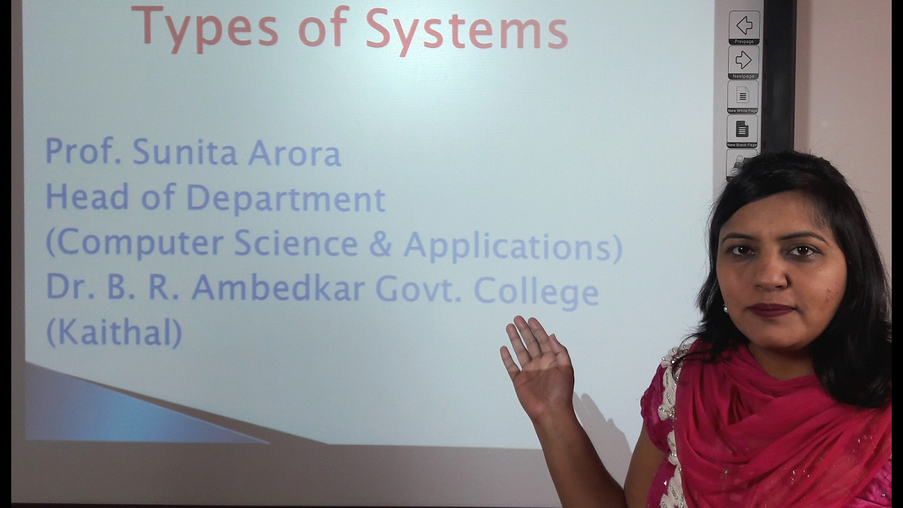 System Analysis Design Types Of Systems In Hindi Under E Learning Program Youtube