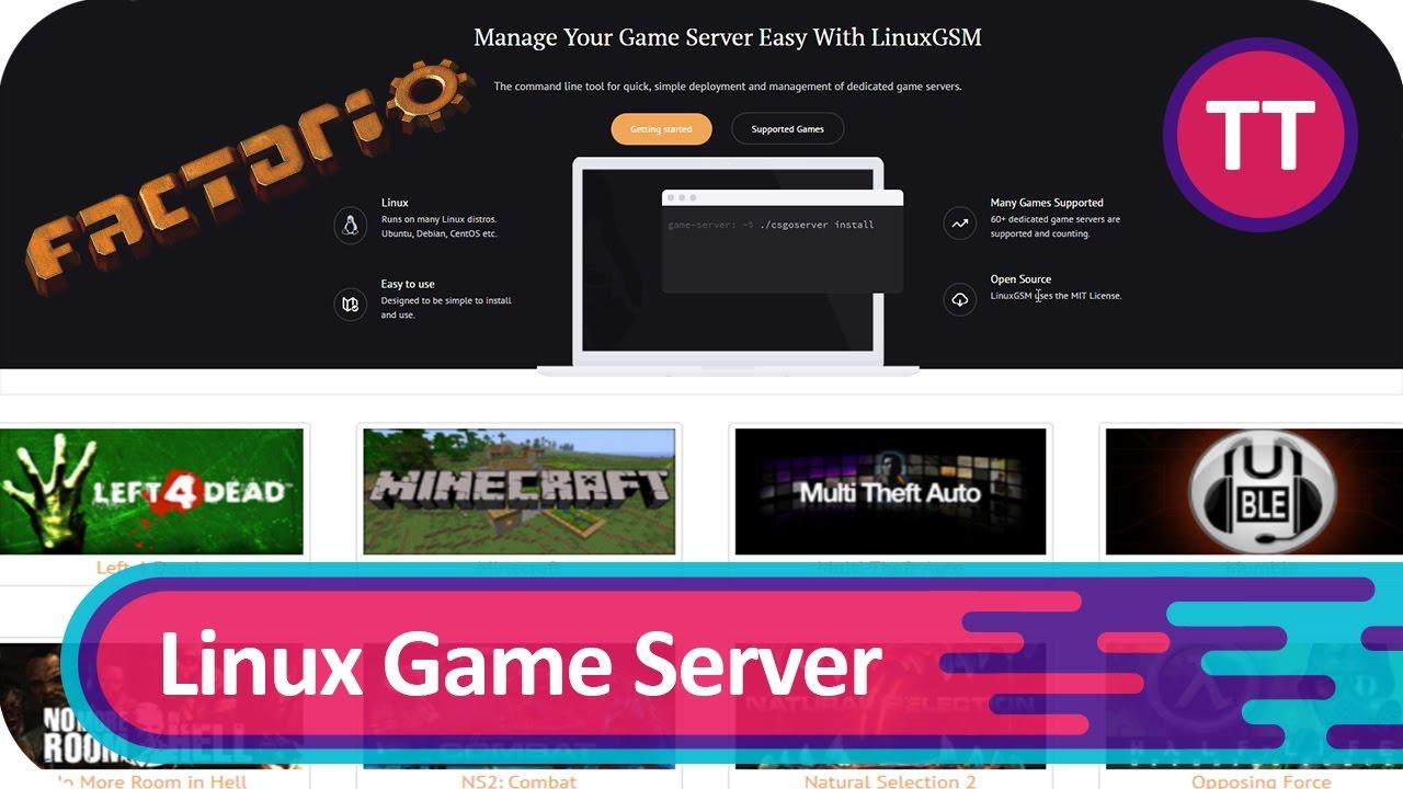 Linux Game Server Manager - Am Beispiel eines Factorio Servers ...