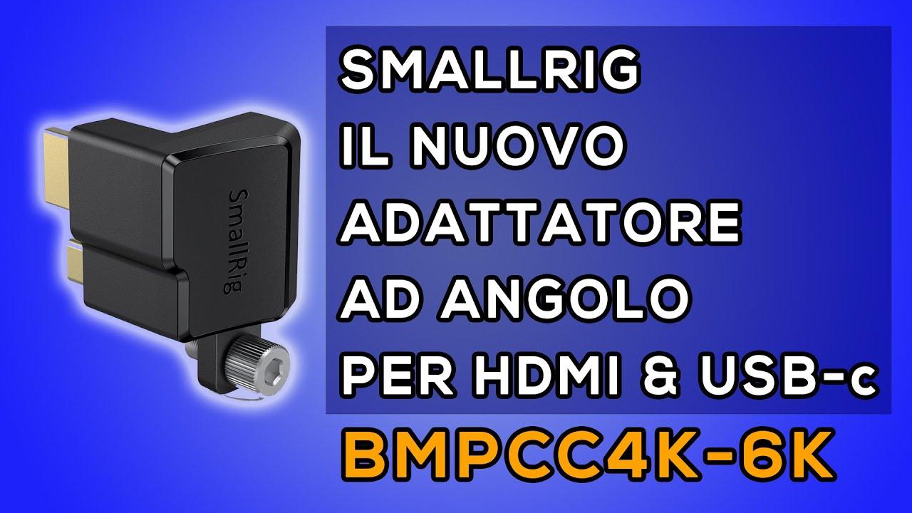SMALLRIG ADATTATORE AD ANGOLO per HDMI e USB-c