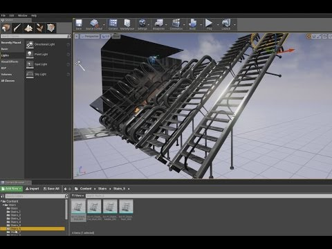 Sci-Fi Stairs Basic Version Test in Unreal