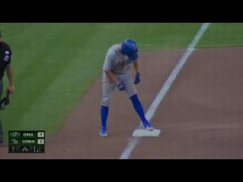 Omaha's Toups motors around the bags for a triple