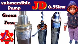 how to repair submersible water pump green foss JD 0.55 KW#electricalrworkshop