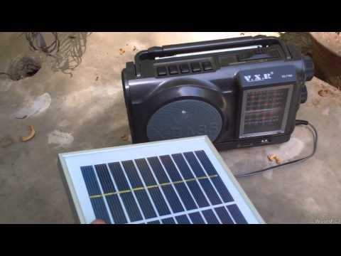 2W Solar Panel Test on Radio