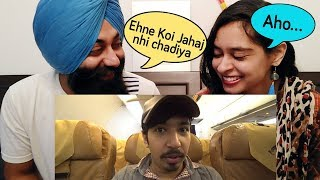 Indian Reaction Types of Pakistani Airlines Ft. Mooroo   PunjabiReel TV